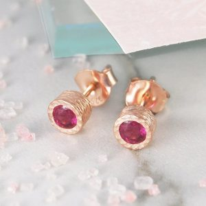 Studs, Rose Gold Studs, Gemstone Studs, Ruby Stud Earrings, Red Gemstone Studs, Birthstone Earrings, Real Ruby Earrings, Natural Stones | Natural genuine Array jewelry. Buy crystal jewelry, handmade handcrafted artisan jewelry for women.  Unique handmade gift ideas. #jewelry #beadedjewelry #beadedjewelry #gift #shopping #handmadejewelry #fashion #style #product #jewelry #affiliate #ad