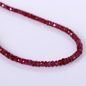 Shop Ruby Necklaces! Ruby Necklace Beaded Necklace Gemstone Beads Necklace Red Necklace For Party And Marriages. | Natural genuine Ruby necklaces. Buy crystal jewelry, handmade handcrafted artisan jewelry for women.  Unique handmade gift ideas. #jewelry #beadednecklaces #beadedjewelry #gift #shopping #handmadejewelry #fashion #style #product #necklaces #affiliate #ad