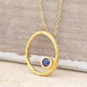 Shop Healing Gemstone & Crystal Pendants! Sapphire Necklace, Gold Necklace, Oval Necklace, Organic Jewelry, Blue Sapphire Pendant, Handmade Jewelry, Gemstone, Birthstone,Oval Pendant | Natural genuine Gemstone pendants. Buy crystal jewelry, handmade handcrafted artisan jewelry for women.  Unique handmade gift ideas. #jewelry #beadedpendants #beadedjewelry #gift #shopping #handmadejewelry #fashion #style #product #pendants #affiliate #ad