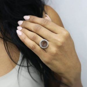 Shop Smoky Quartz Rings! Silver smokey quartz ring,silver ring,statement ring,sterling silver ring,brown gemstone ring | Natural genuine Smoky Quartz rings, simple unique handcrafted gemstone rings. #rings #jewelry #shopping #gift #handmade #fashion #style #affiliate #ad