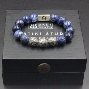 Shop Sodalite Bracelets! Sodalite Bracelet, Bead Bracelets Men, Bracelets For Men, Men's Blue Bracelet, Man's Silver Bracelet, Beaded Bracelet, Blue Bead Bracelet | Natural genuine Sodalite bracelets. Buy handcrafted artisan men's jewelry, gifts for men.  Unique handmade mens fashion accessories. #jewelry #beadedbracelets #beadedjewelry #shopping #gift #handmadejewelry #bracelets #affiliate #ad
