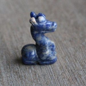 Sodalite Giraffe Animal Stone Figurine d72 | Natural genuine stones & crystals in various shapes & sizes. Buy raw cut, tumbled, or polished gemstones for making jewelry or crystal healing energy vibration raising reiki stones. #crystals #gemstones #crystalhealing #crystalsandgemstones #energyhealing #affiliate #ad