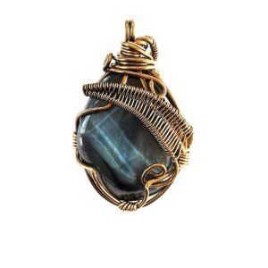 Blue Tigers Eye Necklace-Womens and Mens Crystal Necklace- Wire Wrapped Pendant-Mens Tigers Eye- Boyfriend Birthday Gift | Natural genuine Tiger Eye pendants. Buy handcrafted artisan men's jewelry, gifts for men.  Unique handmade mens fashion accessories. #jewelry #beadedpendants #beadedjewelry #shopping #gift #handmadejewelry #pendants #affiliate #ad