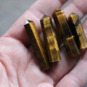 Tiger Eye Small Wrappable Obelisk J57 | Natural genuine stones & crystals in various shapes & sizes. Buy raw cut, tumbled, or polished gemstones for making jewelry or crystal healing energy vibration raising reiki stones. #crystals #gemstones #crystalhealing #crystalsandgemstones #energyhealing #affiliate #ad