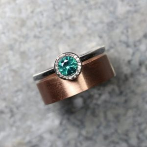 Teal Topaz 14k Rose White Gold Wedding Set For Her Modern Romantic Blue-green Spring Water Zen Drops Bi-color Bridal Ring Band – Rain Stain | Natural genuine Gemstone rings, simple unique alternative gemstone engagement rings. #rings #jewelry #bridal #wedding #jewelryaccessories #engagementrings #weddingideas #affiliate #ad