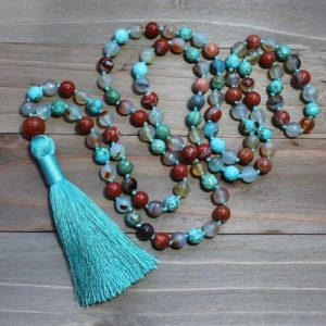 Shop Turquoise Necklaces! Turquoise Tassel Necklace, Turquoise Mala, Turquoise Mala Beads, Boho Tassel Necklace, Long Tassel Necklace, Bohemian Necklaces for Women | Natural genuine Turquoise necklaces. Buy crystal jewelry, handmade handcrafted artisan jewelry for women.  Unique handmade gift ideas. #jewelry #beadednecklaces #beadedjewelry #gift #shopping #handmadejewelry #fashion #style #product #necklaces #affiliate #ad