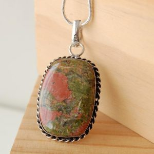 Shop Unakite Pendants! Unakite Necklace, Unakite Pendant, Balancing Stone, Mystical Stone, Spiritual Jewelry, Crystal Jewelry, Gifts Of Love, Grounding Necklace, | Natural genuine Unakite pendants. Buy crystal jewelry, handmade handcrafted artisan jewelry for women.  Unique handmade gift ideas. #jewelry #beadedpendants #beadedjewelry #gift #shopping #handmadejewelry #fashion #style #product #pendants #affiliate #ad