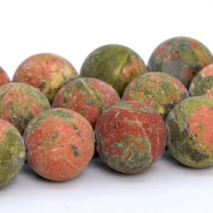 "Shop Unakite Round Beads! 8mm Matte Lotus Pond Unakite Beads Aaa Genuine Natural Gemstone Full Strand Matte Round Loose Beads 15"" Bulk Lot 1, 3, 5, 10, 50 (101098-830) 