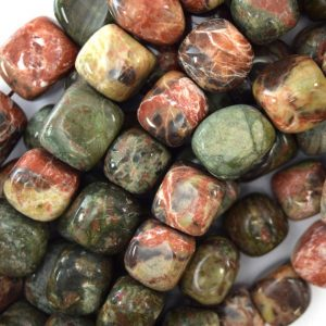 "Shop Agate Chip & Nugget Beads! 13-16mm Australian Agate Nugget Beads 15.5"" Strand 40081 