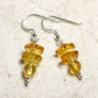 925 Silver Earrings And 6-9mm Natural Honey Amber | Natural genuine Gemstone jewelry. Buy crystal jewelry, handmade handcrafted artisan jewelry for women.  Unique handmade gift ideas. #jewelry #beadedjewelry #beadedjewelry #gift #shopping #handmadejewelry #fashion #style #product #jewelry #affiliate #ad