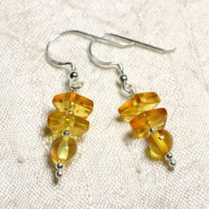 Shop Amber Earrings! 925 Silver Earrings And 6-9mm Natural Honey Amber | Natural genuine Amber earrings. Buy crystal jewelry, handmade handcrafted artisan jewelry for women.  Unique handmade gift ideas. #jewelry #beadedearrings #beadedjewelry #gift #shopping #handmadejewelry #fashion #style #product #earrings #affiliate #ad
