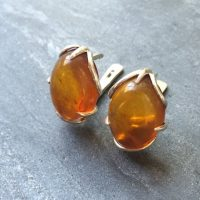 Amber Earrings, Natural Amber, Vintage Earrings, Antique Earrings, Taurus Birthstone, Yellow Gemstone, Solid Silver Earrings, Pure Silver | Natural genuine Gemstone jewelry. Buy crystal jewelry, handmade handcrafted artisan jewelry for women.  Unique handmade gift ideas. #jewelry #beadedjewelry #beadedjewelry #gift #shopping #handmadejewelry #fashion #style #product #jewelry #affiliate #ad
