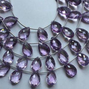 Shop Amethyst Bead Shapes! 17 Pcs Natural Amethyst Pear Briolettes, 10 / 14mm, amethyst Briolettes | Natural genuine other-shape Amethyst beads for beading and jewelry making.  #jewelry #beads #beadedjewelry #diyjewelry #jewelrymaking #beadstore #beading #affiliate #ad