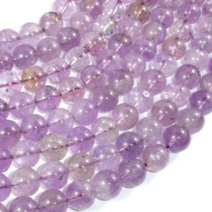Shop Ametrine Beads! Ametrine, 10mm (9.8mm) Round Beads, 16 Inch, Full Strand, Approx 41 Beads, Hole 1mm (116054006) | Natural genuine beads Ametrine beads for beading and jewelry making.  #jewelry #beads #beadedjewelry #diyjewelry #jewelrymaking #beadstore #beading #affiliate #ad
