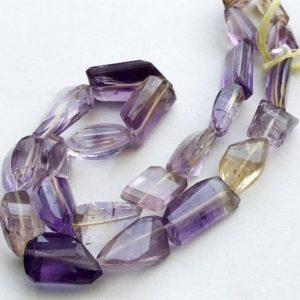 Shop Ametrine Chip & Nugget Beads! 16-20mm Ametrine Faceted Tumbles, Ametrine Nuggets, Ametrine Necklace, Ametrine Tumble Beads, Purple & Orange (7in To 14in Options) – As3293 | Natural genuine chip Ametrine beads for beading and jewelry making.  #jewelry #beads #beadedjewelry #diyjewelry #jewelrymaking #beadstore #beading #affiliate #ad