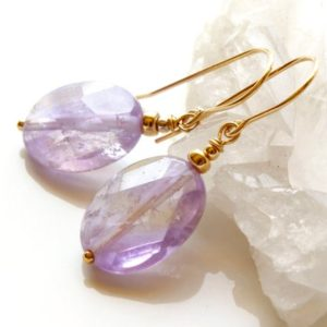 Shop Ametrine Earrings! Ametrine Earrings, Gold Filled, Natural Light Purple Yellow Gemstone Ovals, Dangle, Statement, Unique Artisan Holiday Gift For Her, 5078 | Natural genuine Ametrine earrings. Buy crystal jewelry, handmade handcrafted artisan jewelry for women.  Unique handmade gift ideas. #jewelry #beadedearrings #beadedjewelry #gift #shopping #handmadejewelry #fashion #style #product #earrings #affiliate #ad