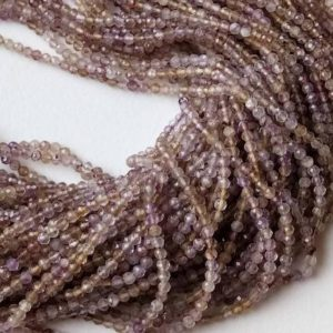 Shop Ametrine Faceted Beads! Ametrine Faceted Rondelle Beads, 2-2.5mm Natural Ametrine Faceted Beads, 13 Inch Ametrine Necklace – NT49 | Natural genuine faceted Ametrine beads for beading and jewelry making.  #jewelry #beads #beadedjewelry #diyjewelry #jewelrymaking #beadstore #beading #affiliate #ad