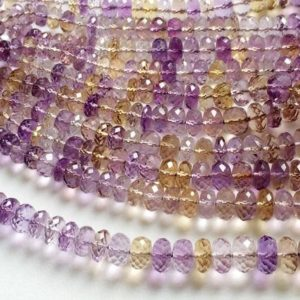 Shop Ametrine Beads! Ametrine Faceted Rondelle Beads, Ametrine Beads, Ametrine Necklace, 5-11mm, 8 Inch, 38 Pcs – Aga30 | Natural genuine beads Ametrine beads for beading and jewelry making.  #jewelry #beads #beadedjewelry #diyjewelry #jewelrymaking #beadstore #beading #affiliate #ad