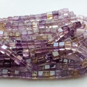 Shop Ametrine Beads! Ametrine Beads, Ametrine Plain Box Beads, Ametrine Necklace, Ametrine Cubes, 6.5mm – 7.5mm, 8 Inch Strand 27 Pcs | Natural genuine beads Ametrine beads for beading and jewelry making.  #jewelry #beads #beadedjewelry #diyjewelry #jewelrymaking #beadstore #beading #affiliate #ad