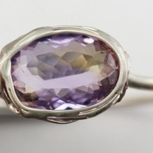 Ametrine Ring | Natural genuine Ametrine rings, simple unique handcrafted gemstone rings. #rings #jewelry #shopping #gift #handmade #fashion #style #affiliate #ad