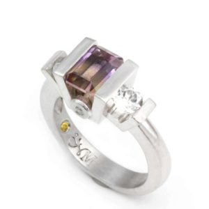 Shop Ametrine Rings! Ametrine Ring, Gemstone Ring, Ametrine Jewelry, Silver Quartz Statement Ring | Natural genuine Ametrine rings, simple unique handcrafted gemstone rings. #rings #jewelry #shopping #gift #handmade #fashion #style #affiliate #ad