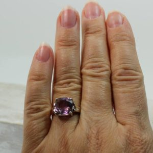 Shop Ametrine Rings! Ametrine ring light purple color square shape flat top brilliant cut gorgeous natural Ametrine stone solid 925e sterling silver quality | Natural genuine Ametrine rings, simple unique handcrafted gemstone rings. #rings #jewelry #shopping #gift #handmade #fashion #style #affiliate #ad