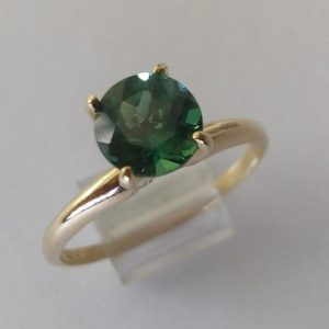 Shop Apatite Rings! 14k Natural Green Apatite Ring Rare Indian Ocean Vivid Bluish Green Apatite Round 6 Mm Solitaire Yellow Gold Ring Size 7 Engagement Ring | Natural genuine Apatite rings, simple unique alternative gemstone engagement rings. #rings #jewelry #bridal #wedding #jewelryaccessories #engagementrings #weddingideas #affiliate #ad
