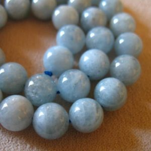 Shop Aquamarine Round Beads! AQUAMARINE Beads, 8 mm ROUND Beads, Luxe AAA, Aqua Blue Beads, smooth..march birthstone..roundgems10 | Natural genuine round Aquamarine beads for beading and jewelry making.  #jewelry #beads #beadedjewelry #diyjewelry #jewelrymaking #beadstore #beading #affiliate #ad