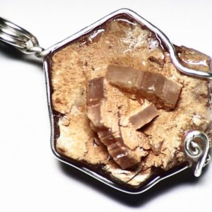 Shop Aragonite Pendants! Aragonite Necklace, Spanish Aragonite Crystal Pendant, Sterling Silver, Hexagonal Crystal Jewelry, Mens Crystal Necklace, Gem from Spain | Natural genuine Aragonite pendants. Buy handcrafted artisan men's jewelry, gifts for men.  Unique handmade mens fashion accessories. #jewelry #beadedpendants #beadedjewelry #shopping #gift #handmadejewelry #pendants #affiliate #ad