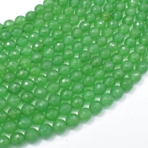 Shop Aventurine Faceted Beads! Green Aventurine, 6mm Faceted Round Beads, 15.5 Inch, Full Strand, Approx 61 Beads, Hole 1mm, A Quality (249025002) | Natural genuine faceted Aventurine beads for beading and jewelry making.  #jewelry #beads #beadedjewelry #diyjewelry #jewelrymaking #beadstore #beading #affiliate #ad