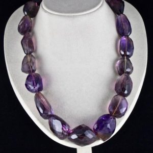 Shop Ametrine Faceted Beads! Big 1 Line 1745 Cts Natural AMETRINE FACETTED BEADS Tumble Necklace With Silver Hook | Natural genuine faceted Ametrine beads for beading and jewelry making.  #jewelry #beads #beadedjewelry #diyjewelry #jewelrymaking #beadstore #beading #affiliate #ad