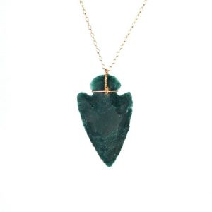 Shop Bloodstone Necklaces! Arrowhead necklace – stone arrowhead – spear necklace – bloodstone necklace – a raw green arrowhead wire wrapped onto 14k gold vermeil chain | Natural genuine Bloodstone necklaces. Buy crystal jewelry, handmade handcrafted artisan jewelry for women.  Unique handmade gift ideas. #jewelry #beadednecklaces #beadedjewelry #gift #shopping #handmadejewelry #fashion #style #product #necklaces #affiliate #ad