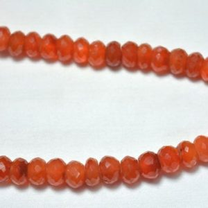Shop Carnelian Rondelle Beads! CARNELIAN Rondelle Beads, Carnelian Gemstone Rondelle Beads, Faceted Carnelian Loose Beads, Gemstone Bead 10mm, 8 Inch Strand | Natural genuine rondelle Carnelian beads for beading and jewelry making.  #jewelry #beads #beadedjewelry #diyjewelry #jewelrymaking #beadstore #beading #affiliate #ad