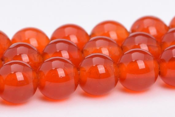 Red Carnelian Beads Grade Aaa Genuine Natural Gemstone Round Loose Beads 4mm 6mm 8mm 10mm 15mm Bulk Lot Options