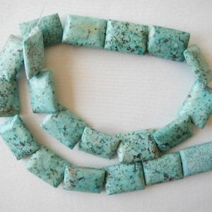 "Shop Chrysocolla Beads! 20mm Chrysocolla Rectangle Beads 16"" Strand 3108 