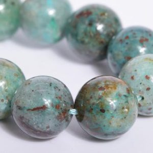 "Shop Chrysocolla Round Beads! 10MM Deep Green Chrysocolla Beads Grade AA Genuine Natural Gemstone Half Strand Round Loose Beads 7.5"" Bulk Lot Options (107873h-2577) 