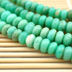 Shop Chrysoprase Rondelle Beads! Chrysoprase 7.5-8.5mm Rondelle Beads (etb00875) | Natural genuine rondelle Chrysoprase beads for beading and jewelry making.  #jewelry #beads #beadedjewelry #diyjewelry #jewelrymaking #beadstore #beading #affiliate #ad