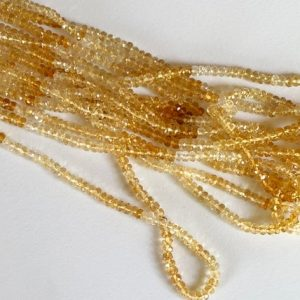 Shop Citrine Faceted Beads! 16 Inches Citrine Faceted Rondelle Beads, 4mm Natural Shaded Faceted Beads, Citrine Necklace – Ang 38 | Natural genuine faceted Citrine beads for beading and jewelry making.  #jewelry #beads #beadedjewelry #diyjewelry #jewelrymaking #beadstore #beading #affiliate #ad