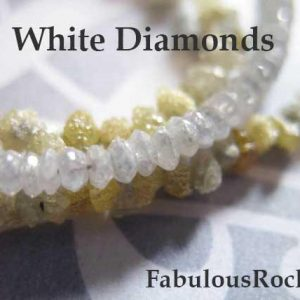 Shop Diamond Beads! 1-50 Pcs / 2-2.5 Mm, White Diamond Beads, Diamond Rondelle / Luxe Aaa, Faceted Gemstones Light Silver Grey White April Birthstone Drw Tr 25 | Natural genuine beads Diamond beads for beading and jewelry making.  #jewelry #beads #beadedjewelry #diyjewelry #jewelrymaking #beadstore #beading #affiliate #ad
