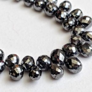 Shop Diamond Bead Shapes! 2.5x3mm-3x5mm Black Faceted Diamond Drops, Black Faceted Diamond Tear Drop Beads For Jewelry, Diamond Beads (5Pcs To 10Pcs Options) – PPD373 | Natural genuine other-shape Diamond beads for beading and jewelry making.  #jewelry #beads #beadedjewelry #diyjewelry #jewelrymaking #beadstore #beading #affiliate #ad