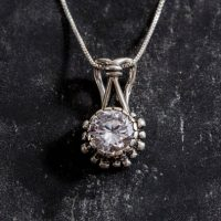 Diamond Pendant, Created Diamond, Lab Diamond Pendant, Vintage Pendant, Cz Diamond Pendant, Bridal Pendant, Solid Silver Pendant, Diamond | Natural genuine Gemstone jewelry. Buy handcrafted artisan wedding jewelry.  Unique handmade bridal jewelry gift ideas. #jewelry #beadedjewelry #gift #crystaljewelry #shopping #handmadejewelry #wedding #bridal #jewelry #affiliate #ad