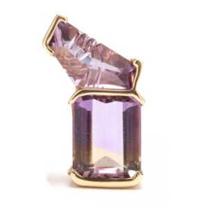 Shop Ametrine Pendants! Estate 14K Solid Yellow Gold Genuine Amethyst Ametrine Pendant 11.52 Grams Gift | Natural genuine Ametrine pendants. Buy crystal jewelry, handmade handcrafted artisan jewelry for women.  Unique handmade gift ideas. #jewelry #beadedpendants #beadedjewelry #gift #shopping #handmadejewelry #fashion #style #product #pendants #affiliate #ad