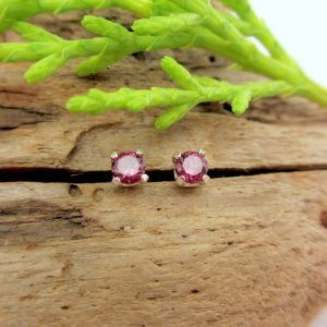Shop Garnet Earrings! Pink Garnet Rhodolite Studs – Genuine Pink Garnet Rhodolite Stud Earrings, Real 14k Gold or Platinum – 3mm | Natural genuine Garnet earrings. Buy crystal jewelry, handmade handcrafted artisan jewelry for women.  Unique handmade gift ideas. #jewelry #beadedearrings #beadedjewelry #gift #shopping #handmadejewelry #fashion #style #product #earrings #affiliate #ad