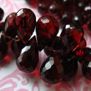 Garnet Briolettes, Mozambique GARNET Teardrop Drop Beads, Luxe AAA, 10-11.5 mm, Lsrge Focals, January birthstone Gemstone Semiprecious Gems | Natural genuine other-shape Garnet beads for beading and jewelry making.  #jewelry #beads #beadedjewelry #diyjewelry #jewelrymaking #beadstore #beading #affiliate #ad
