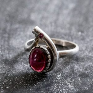 Shop Garnet Engagement Rings! Large Garnet Ring, Natural Garnet Ring, January Birthstone, Red Garnet Ring, Vintage Rings, Vintage Red Ring, Vintage Silver Ring, Garnet | Natural genuine Garnet rings, simple unique handcrafted gemstone rings. #rings #jewelry #shopping #gift #handmade #fashion #style #affiliate #ad