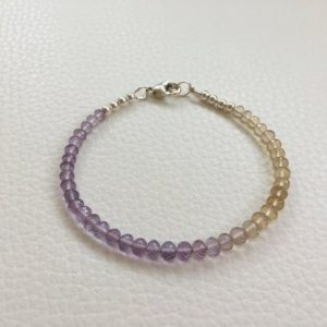 Shop Ametrine Bracelets! Gemstone Bracelet, Ametrine Bracelet, Ombre Bracelet, Amethyst Bracelet, Citrine Jewelry, Gift For Her, Stackable Bracelet, Dainty Bracelet | Natural genuine Ametrine bracelets. Buy crystal jewelry, handmade handcrafted artisan jewelry for women.  Unique handmade gift ideas. #jewelry #beadedbracelets #beadedjewelry #gift #shopping #handmadejewelry #fashion #style #product #bracelets #affiliate #ad