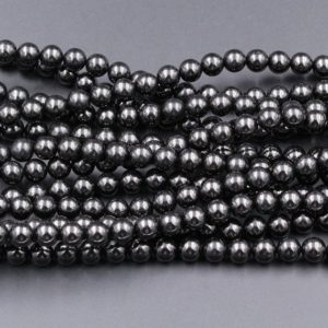 "Genuine Real Natural Jet 4mm 6mm 8mm 10mm 12mm Round Beads AAA Quality Natural Black Gemstones 15.5"" Strand 