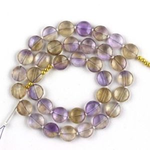 Shop Ametrine Faceted Beads! Good Quality 1 Strand Natural Ametrine Coin Shape Faceted Size 10-11mm Approx,Ametrine,Coin Faceted Beads,Ametrine Faceted Beads,Best Price | Natural genuine faceted Ametrine beads for beading and jewelry making.  #jewelry #beads #beadedjewelry #diyjewelry #jewelrymaking #beadstore #beading #affiliate #ad
