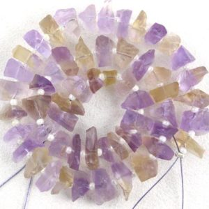 Shop Ametrine Beads! Good Quality 1 Strand Natural Ametrine Gemstone Rough, 50 Pieces Uneven Shape Rough, Size 6-8 MM Center Drilled Making Jewelry Wholesale Raw | Natural genuine beads Ametrine beads for beading and jewelry making.  #jewelry #beads #beadedjewelry #diyjewelry #jewelrymaking #beadstore #beading #affiliate #ad