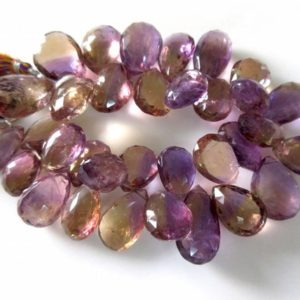 Shop Ametrine Beads! Huge 17mm To 27mm AAA Ametrine Faceted Pear Shaped Briolette Beads, Natural Ametrine Gemstone, Ametrine Jewelry, GDS957 | Natural genuine beads Ametrine beads for beading and jewelry making.  #jewelry #beads #beadedjewelry #diyjewelry #jewelrymaking #beadstore #beading #affiliate #ad